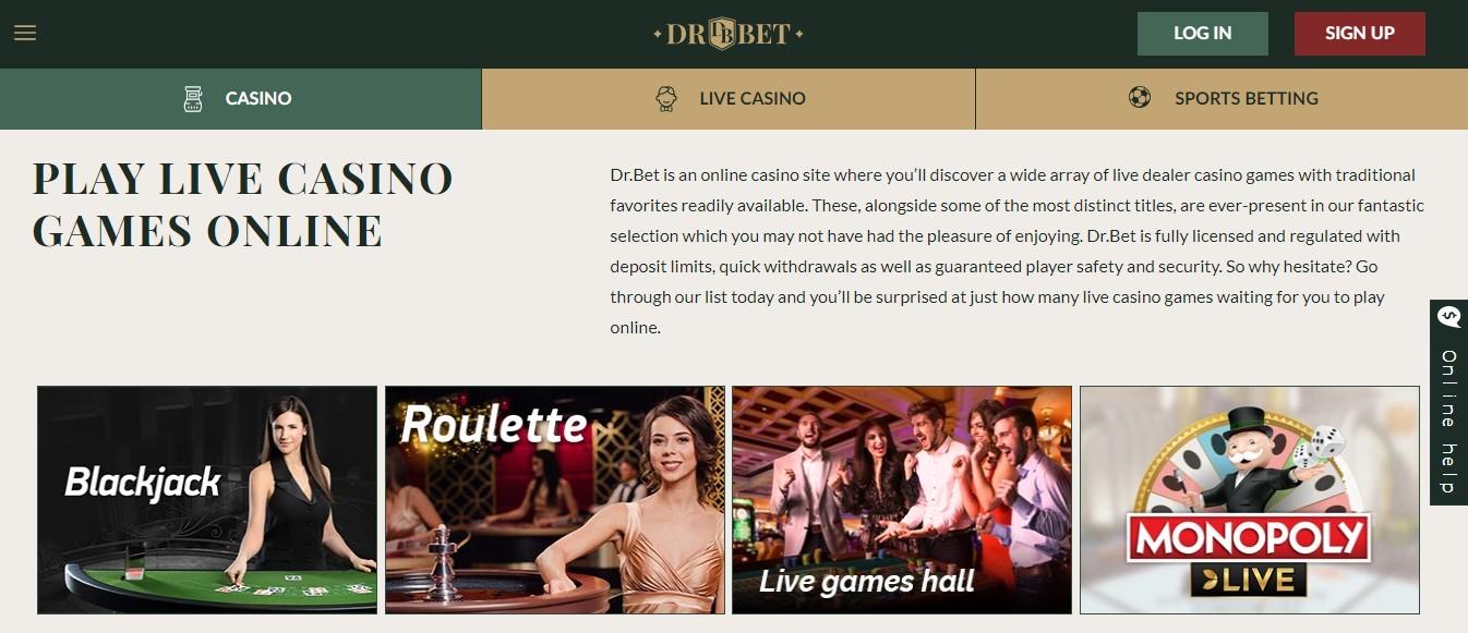 drbet live casino games